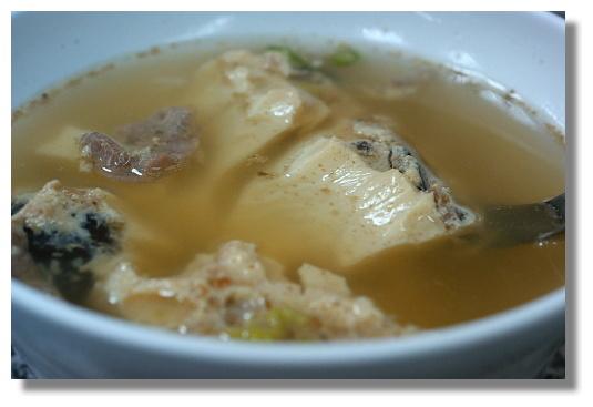 高雄北港蔡筒仔米糕的蒸蛋湯