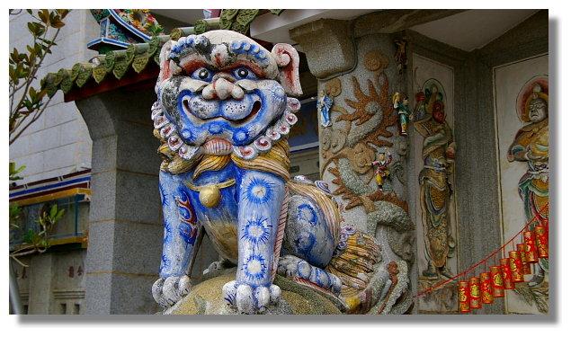 台南關子嶺碧雲寺的石獅
