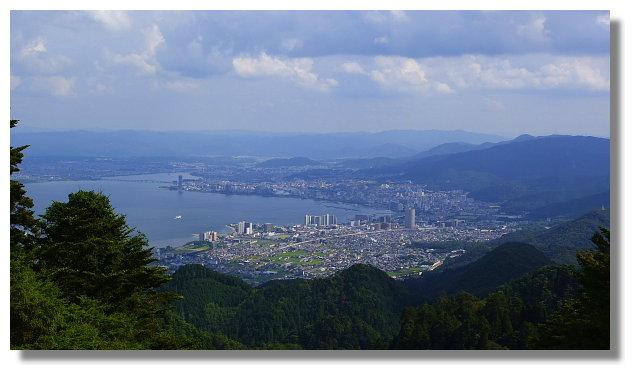 坂本纜車延曆寺站外的風景
