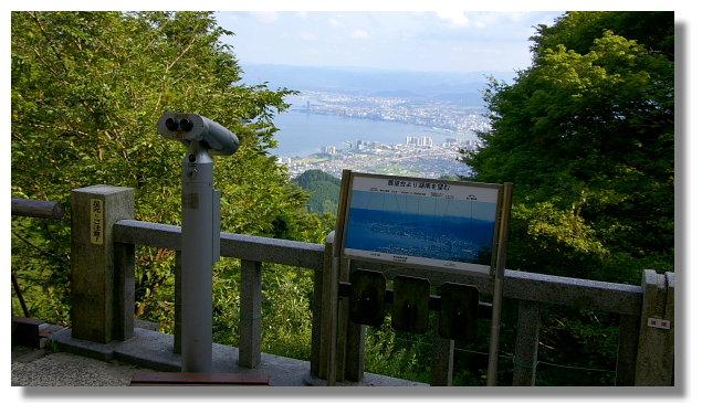 坂本纜車延曆寺站外的觀景台