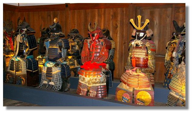 姬路城內的武士盔甲