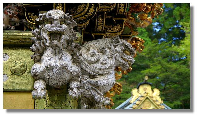 日光東照宮陽明門上的雕刻