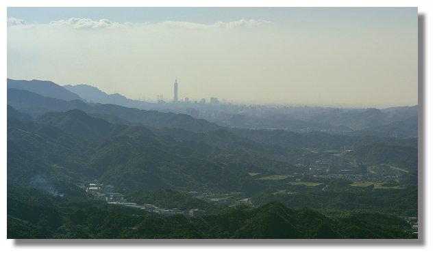基隆山遠眺台北101