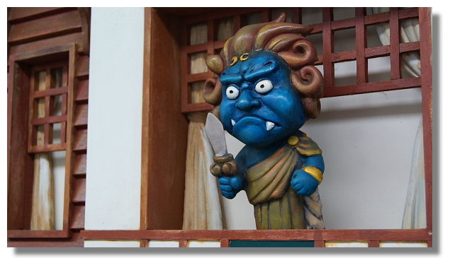 北投捷運站內不動明王像(溫泉守護神)