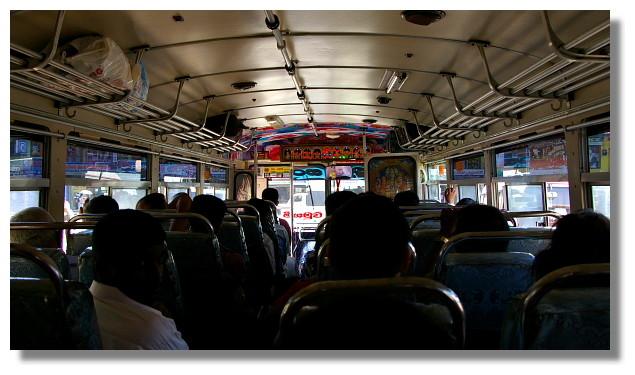 斯里蘭卡巴士內部