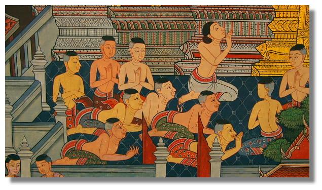 曼谷臥佛寺壁畫