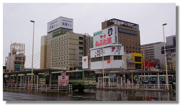 青森車站外