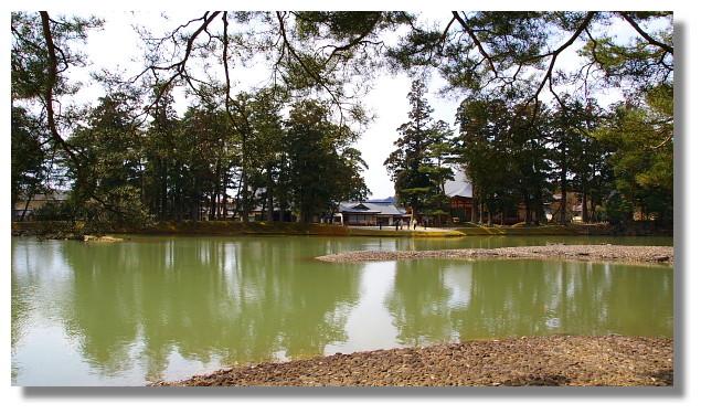 平泉毛越寺大泉が池