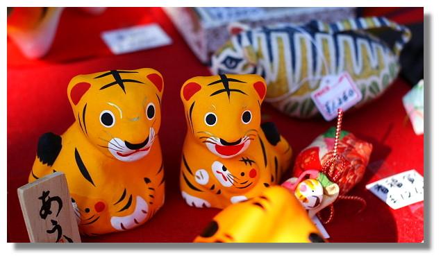 日本虎型玩偶