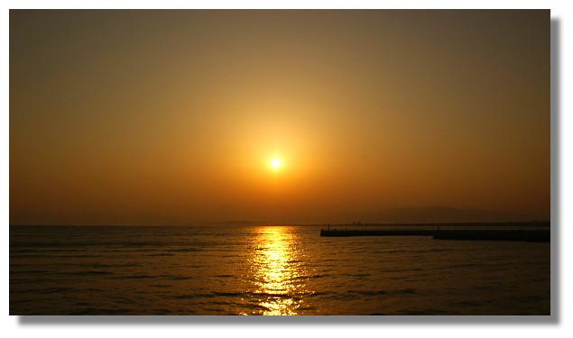 江之島夕陽