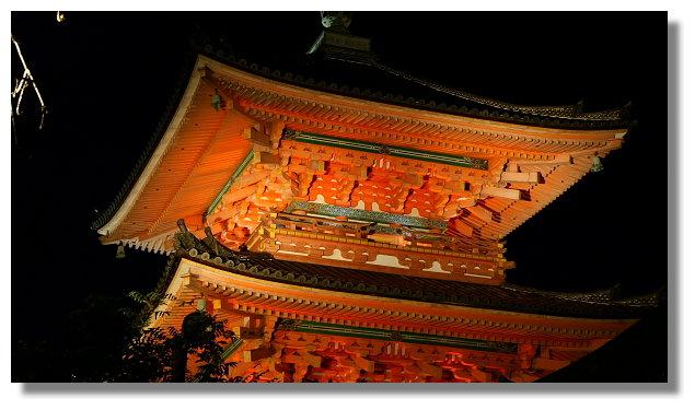 京都清水寺夜景
