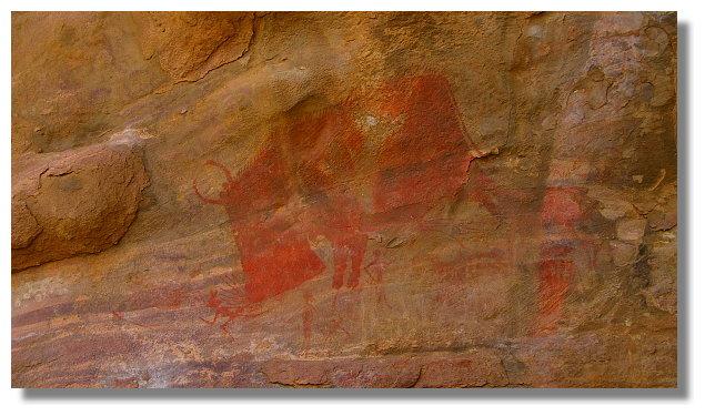 比莫貝卡特石窟壁畫