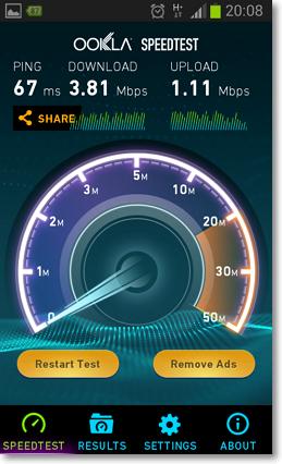 測試手機網路速度APP-P03