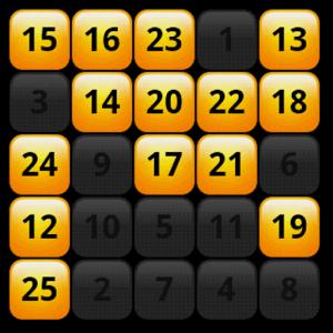 1-25數字遊戲APP-Logo