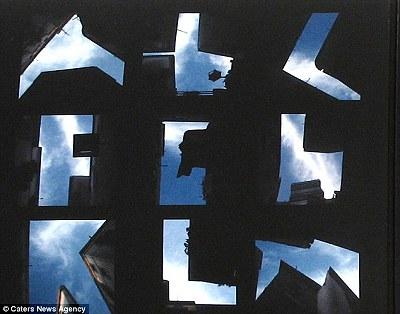 天空上打字 - 藍天上的字母 天空上打字2.jpg