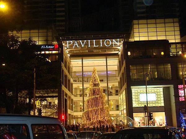 夜晚的聖誕樹@Pavilion