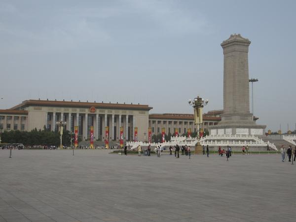 人民大會堂及人民英雄紀念碑.JPG