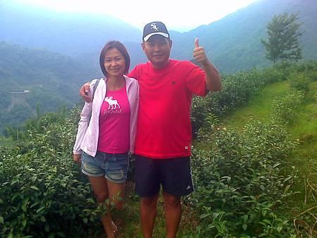台南安平楊先生夫妻參觀農場茶園