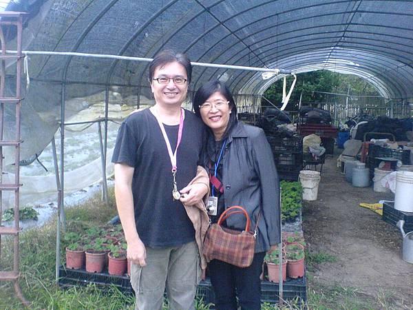 台北的楊復華夫妻參觀農場