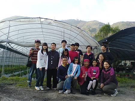 同學們草莓園合影