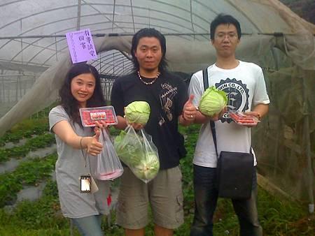 台北林先生一行人農場合影
