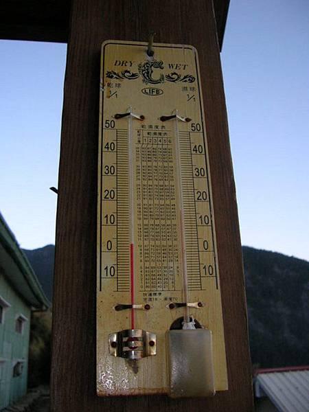 三六九山莊的溫度計