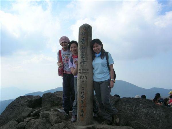 山頂上的柱子