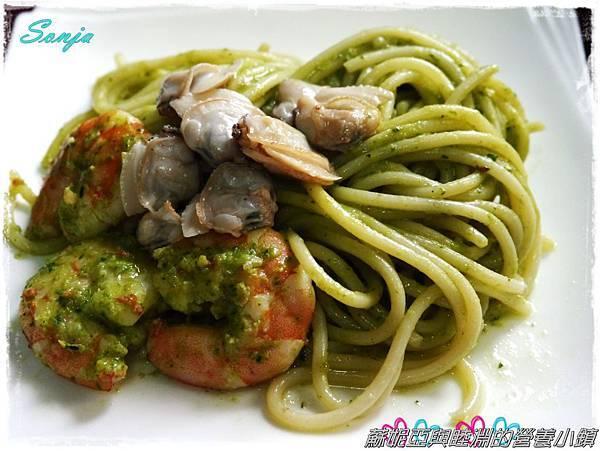 青醬蛤蜊義大利麵10