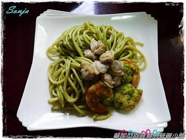 青醬蛤蜊義大利麵11