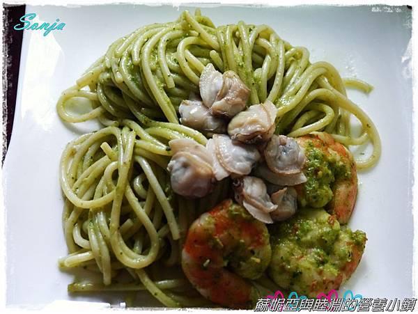 青醬蛤蜊義大利麵12