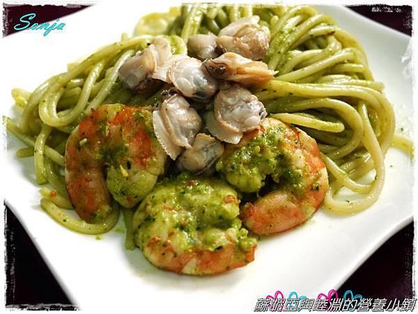 青醬蛤蜊義大利麵14