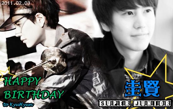 Happy Birthday to KyuHyun!