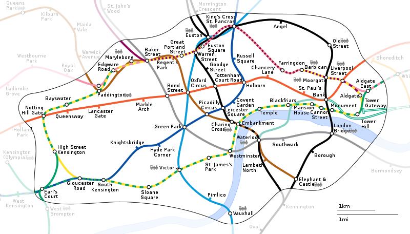 英國倫敦地下鐵路線圖