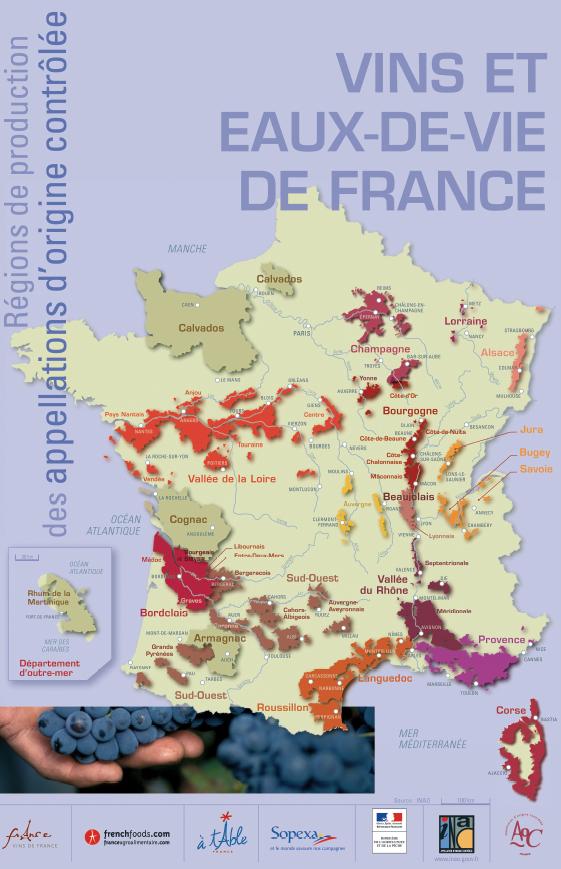 法國產區地圖