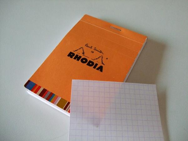 沉靜的橙色調---法國RHODIA筆記本