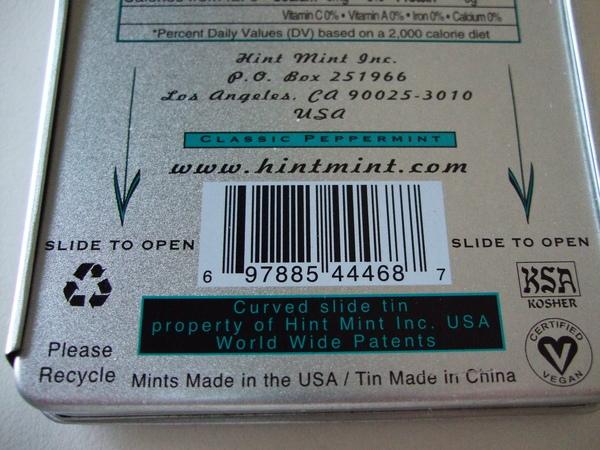 美國Hint Mint經典涼糖錠