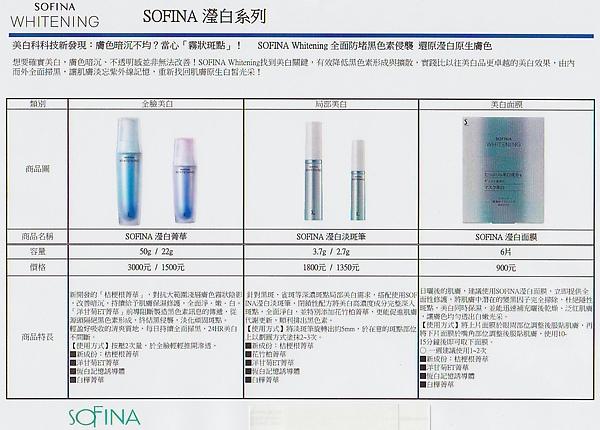SOFINA 瀅白系列開箱體驗