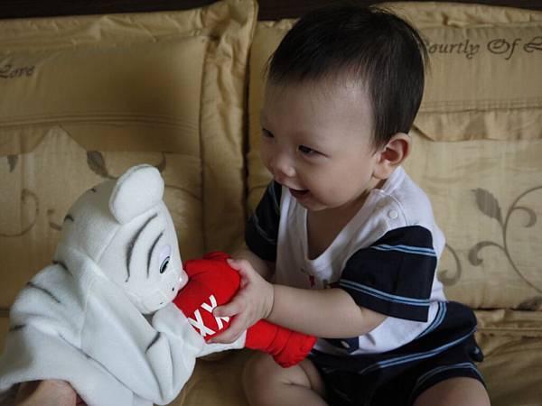 玩具-拳擊小白虎1.JPG