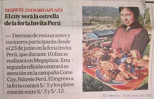 feria invita Peru