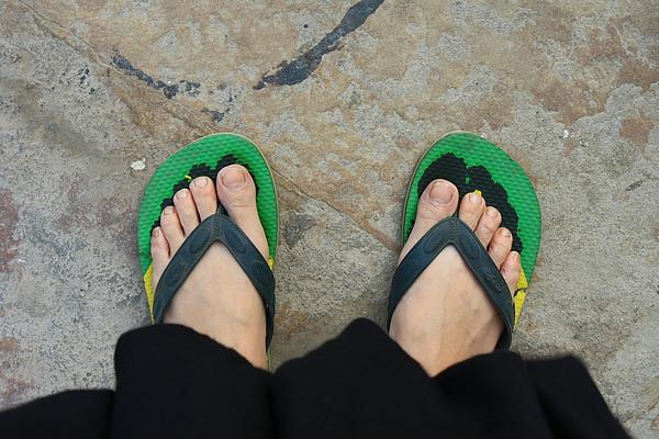 行走印度的拖鞋