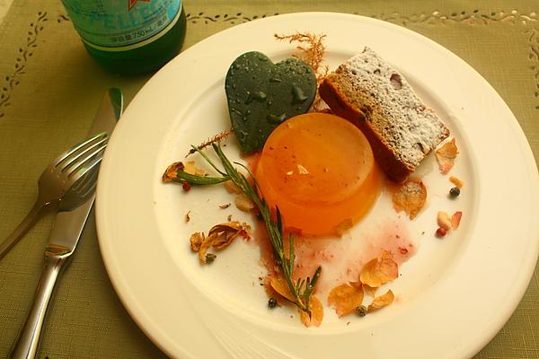 香蕉核桃糕+鮮橘果凍
