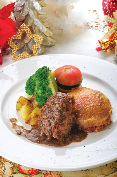 聖誕新年大餐主菜盤