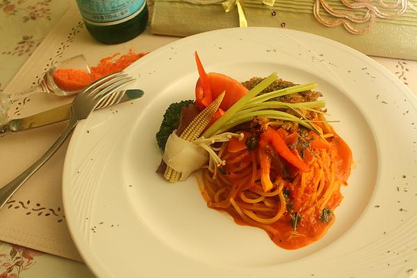 主排+粉茄義大利麵