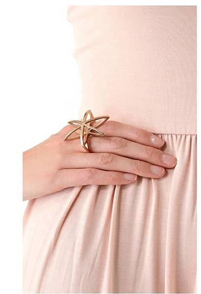 Cosmos Double Finger Ring