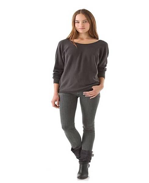 V Back Cashmere Sweater