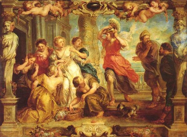 阿基里斯在呂科默得斯女兒間被認出Aquiles descubierto por Ulises_魯本斯Peter Paul Rubens.jpg