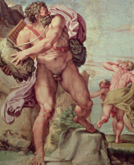 Polyphemus Attacking Acis and Galatea攻擊埃西斯與卡拉蒂的波呂斐摩斯  __阿尼巴爾 · 卡拉齊Annibale Carracc.jpg
