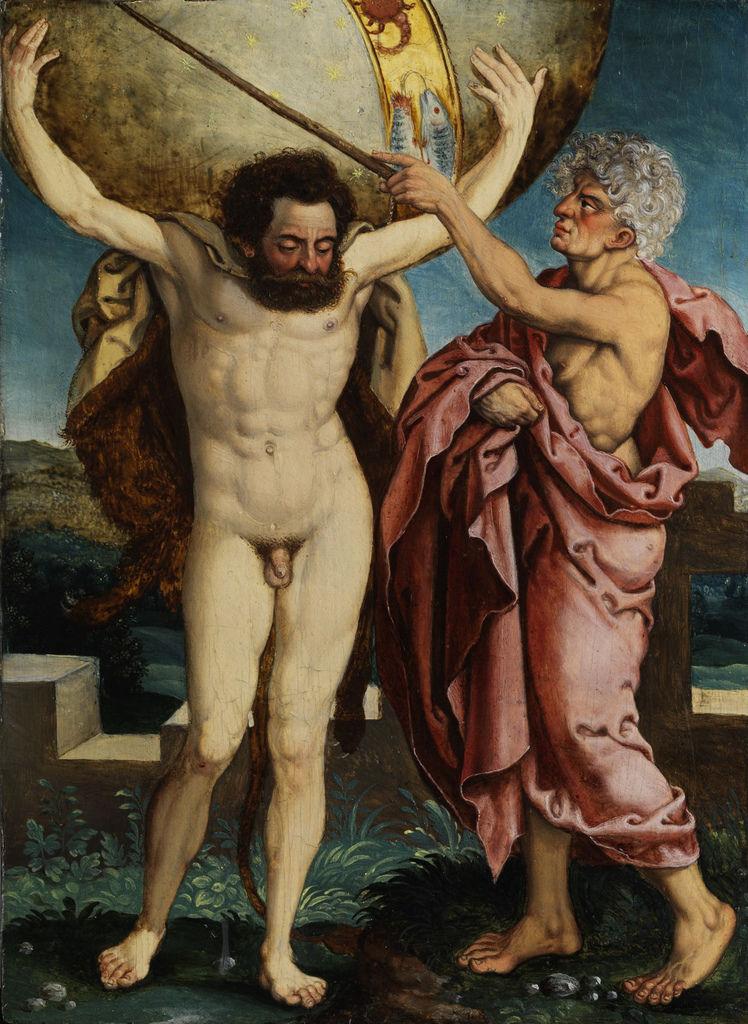 亞特拉斯與海格力斯Taten des Herakles dt 16Jh Atlas_作者不詳 Anonymous