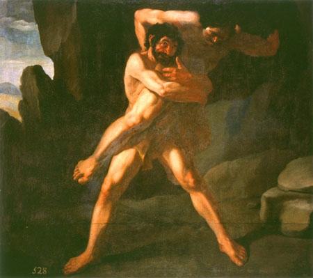 海格力斯與安泰俄斯搏鬥Hercules and Antaios_蘇魯巴爾 Francisco de Zurbarán