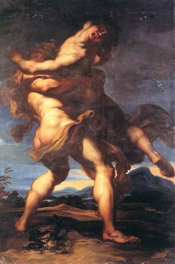 海格力斯與安泰俄斯 Hercules and Antaeus_ 格雷戈里 ‧ 奧德法拉利Gregorio de Ferrari